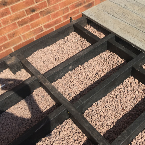 Subframe Plas Pro For Millboard Decking On Gravel