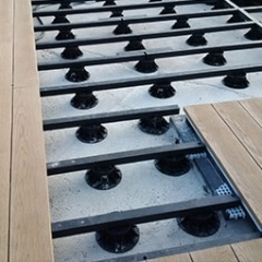 Subframe Plas Pro For Millboard Decking On Concrete With Adjustable Pedestal Supports