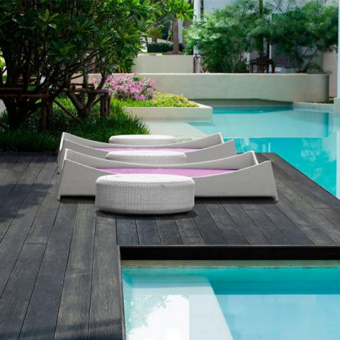 Enhanced Grain Charred Oak Millboard Decking by pool