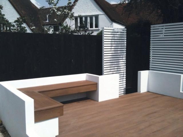Millboard Decking Enhanced Grain Coppered Oak Terrace