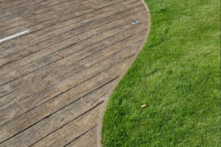 Millboard Decking Weathered Oak Curved Edging