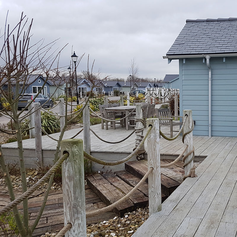 Weathered Oak Driftwood Decking By Millboard at Holiday-Park