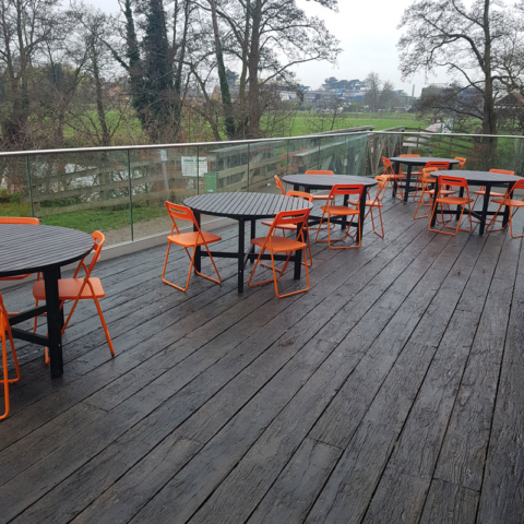 Weathered Oak Embered Decking by Millboard