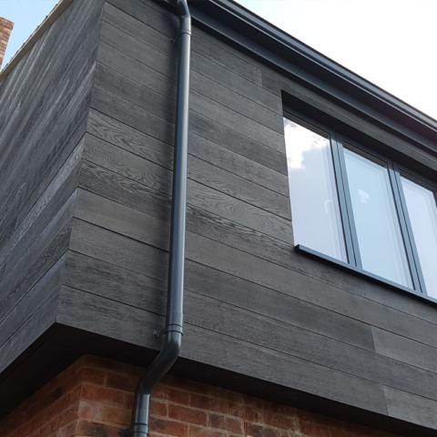 Enhanced Grain Charred Oak Wall Cladding by Millboard - Exterior Wall Cladding Ireland, Dubln