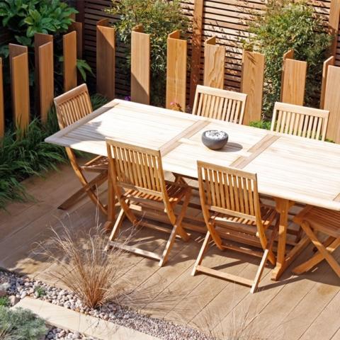 Enhanced Grain Golden Oak Millboard Decking and Seating Area