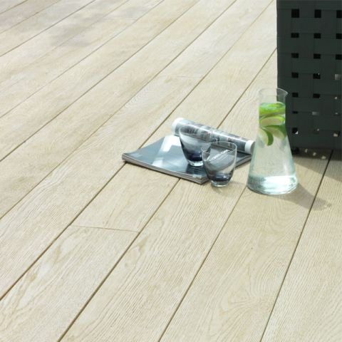 Enhanced Grain Limed Oak Millboard Decking