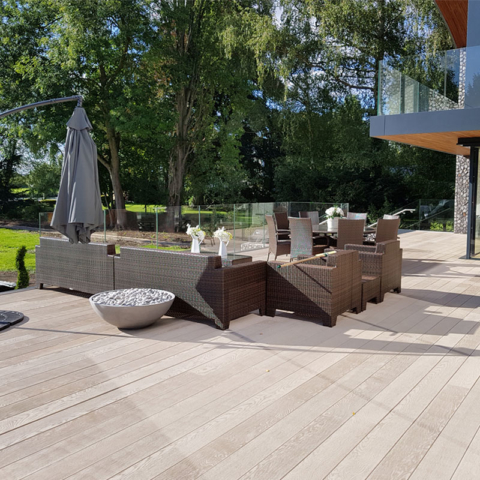 Enhanced Grain Limed Oak Millboard Seating