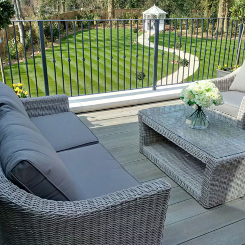 Enhanced Grain Smoked Oak Millboard Decking - Balcony