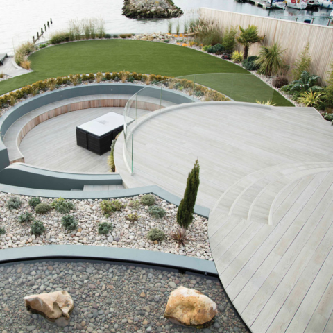 Enhanced Grain Smoked Oak Millboard Decking - Balcony Circle-Decking
