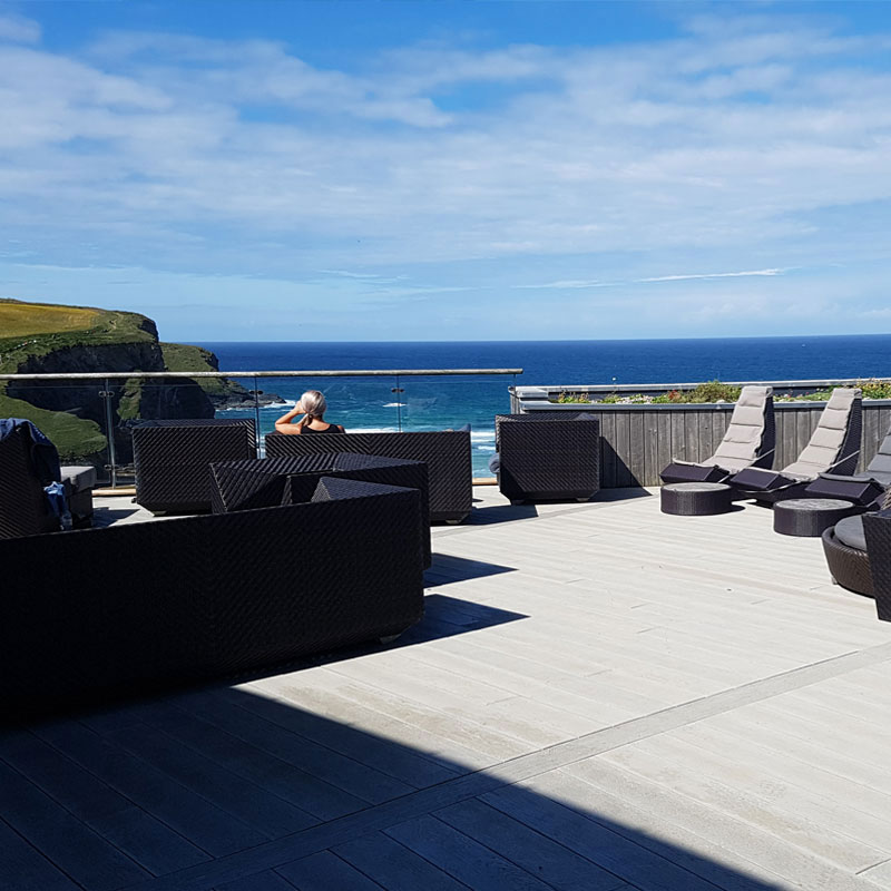 Enhanced Grain Smoked Oak Millboard Decking Ocean-View