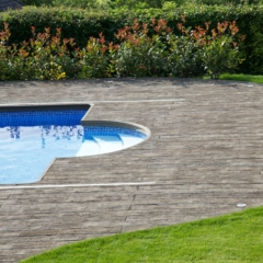 Weathered Oak Vintage Millboard Decking Pool