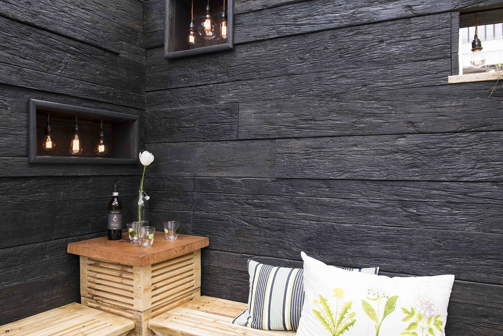 Enhanced Grain Charred Oak Millboard Wall Cladding - Interior Wall Cladding Ireland, Northern Ireland