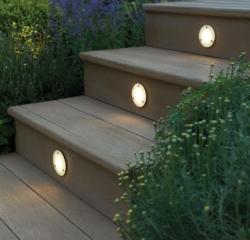 Millboard Decking Enhanced Grain Golden Oak With Bullnose Edging