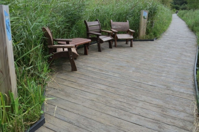 Weathered Millboard Oak Decking - Boardwalk - total carpentry ireland - premium decking alternative to wood decking, plastic decking and composite decking
