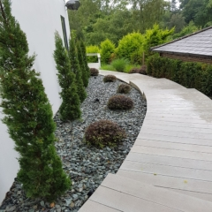 Millboard Enhanced Grain Smoked Oak Decking Stairs - total carpentry ireland premium decking alternative to wood decking, plastic decking and composite decking - dublin, wicklow and northern ireland decking installer