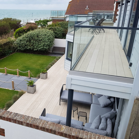 Residential Balcony Decking Millboard Enhanced Smoked-Oak